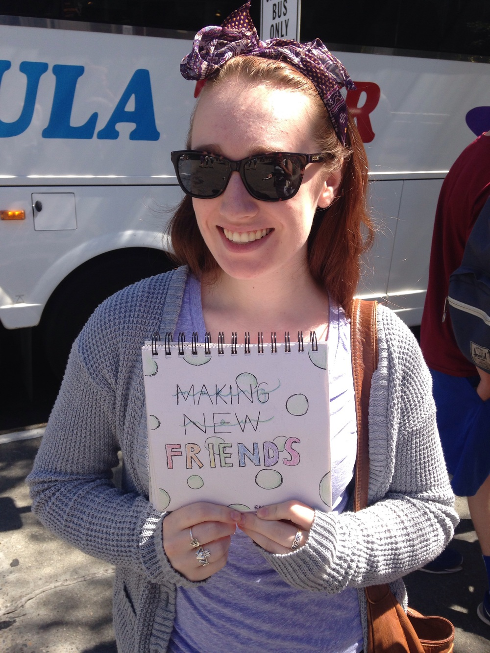 "Rachel Lockley, junior. ""Making new friends"""