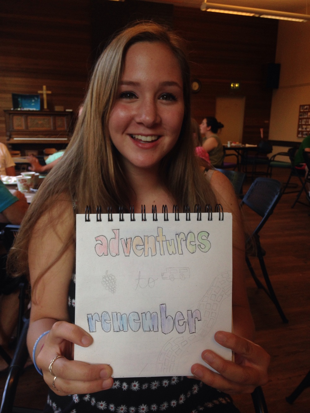 "Emmy Tiffin, sophomore. ""Adventures to remember"""