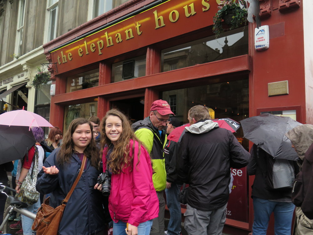 The cafe where JK Rowling wrote Harry Potter. Apparently Emily is not impressed.