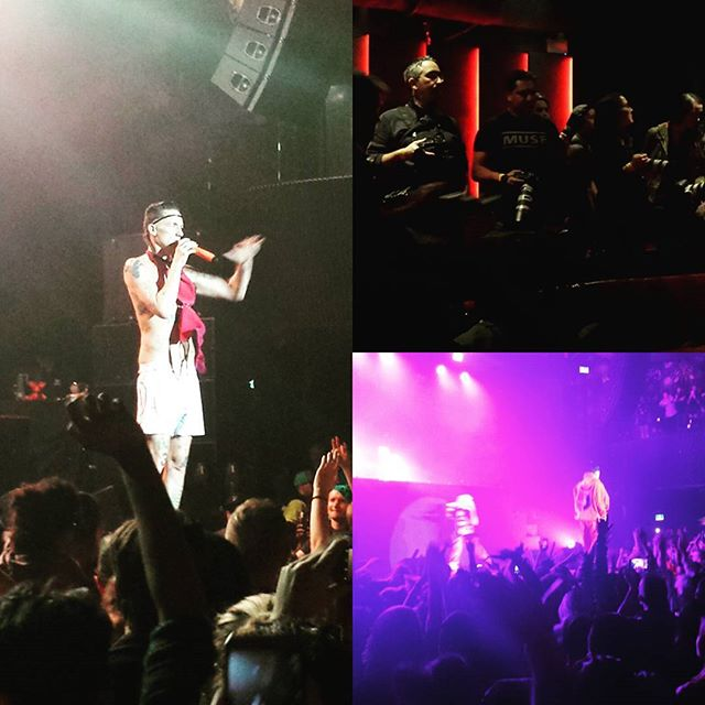 My first rap concert! Die Antwoord in Toronto. Ladies kept throwing their bras at Ninja and he draped them around his neck. Adorable. 13 days till Album Release Oct 30!