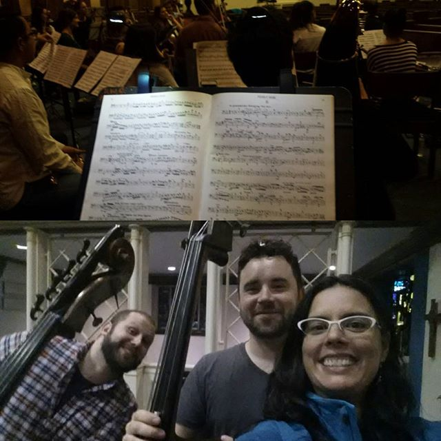 Fun times playing Mahler 4 with these dudes tonight. I know, where's my beard?? 11 days till Album Release show Oct 30 at Henderson's Brewing Company!