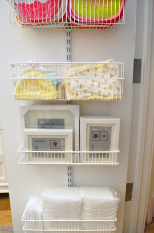 And Below That, A Space For Her Little Hats And Burp Cloths (I Have More Of  These In Her Changing Table Dresser Too!). I Filled In The Bottom Baskets  With ...
