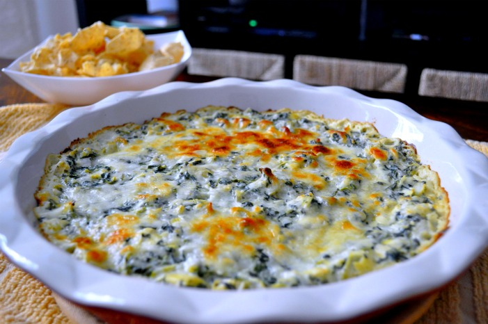 Game Day EatsWarm Spinach  Artichoke Dip the avid appetite