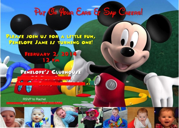 Penelope Janes Mickey Mouse Clubhouse 1st Birthday Party