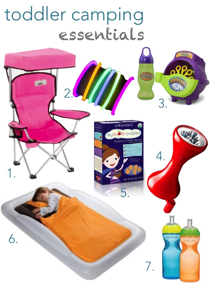 1 Canopy Camping Chair 2 Glow Bracelets 3 Bubble Hurricane 4 Mysuperfoods Blueberry Vanilla Heroes 5 Led Hand Powered Flashlight 6 Inflatable Toddler