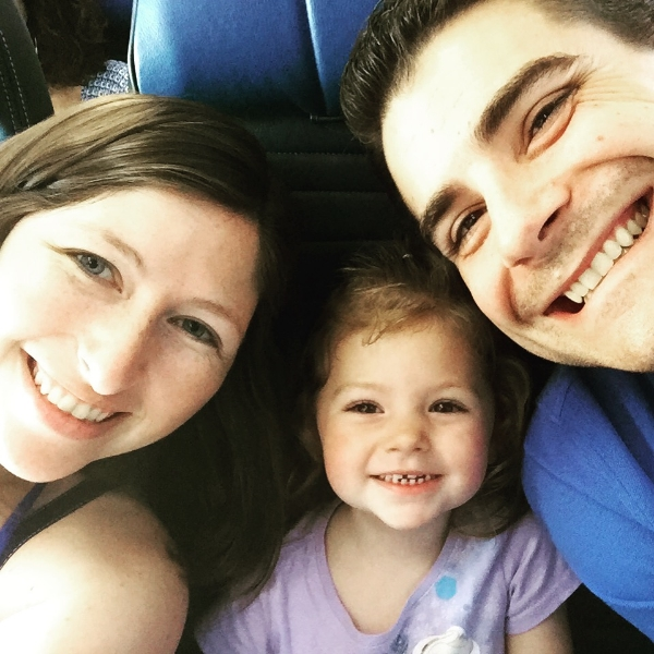 lil' miss also got her very first airplane seat {and mom + dad rejoiced}