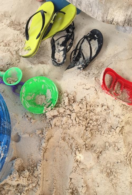 sand remnants.