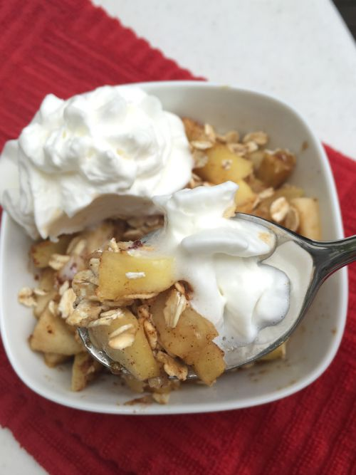 microwave apple crisp1