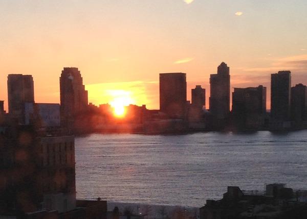 jersey city skyline sunset