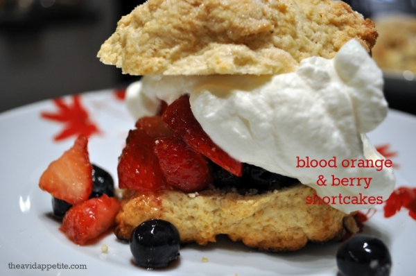 blood orange berry shortcake