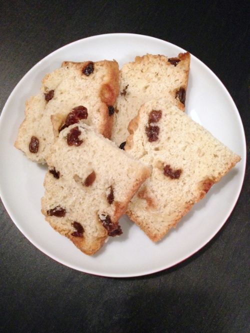 irish soda bread cut