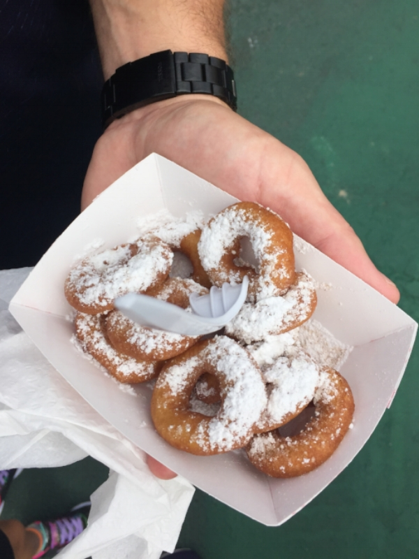 Our first stop because we couldn't resist: freshly fried mini donuts from  glazed & confused