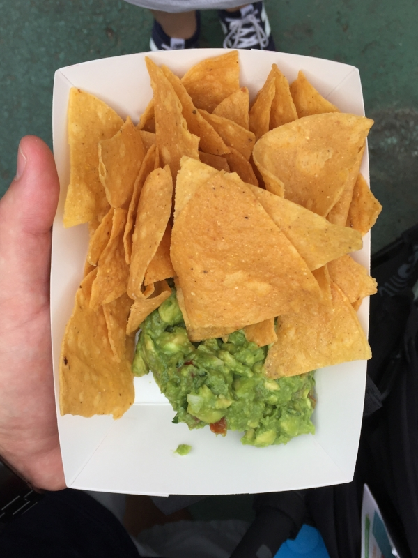 chips & guac from  Orale . We agreed this won 'Best Value' at $5. Look at that guac! You can't tell, but there's a solid mountain of it hiding under those chips.