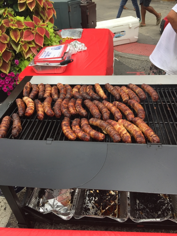 Bacon-wrapped hot dogs. You know we got down with those.