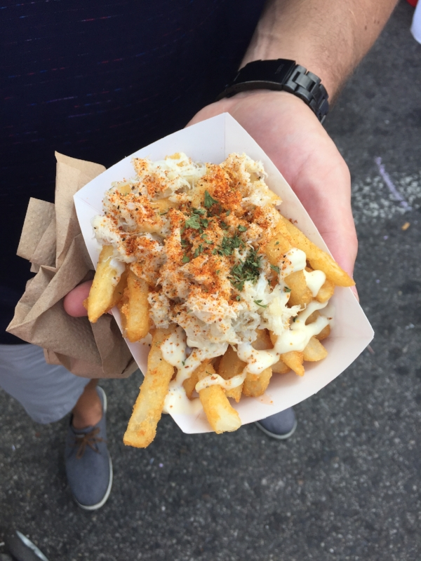 "This wins for ""Most Likely to Stop Traffic"". These  crab fries from Just BeClaws  had people stopping us in our tracks to find out where we got them."