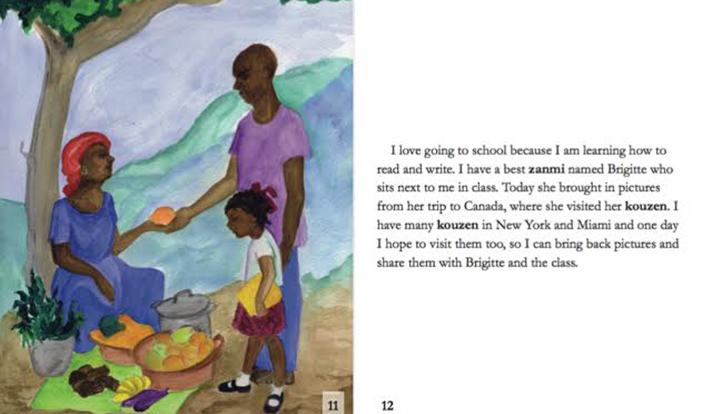 "These pages are from the book ""Elsie"" by Haitian author Cybille St. Aude."