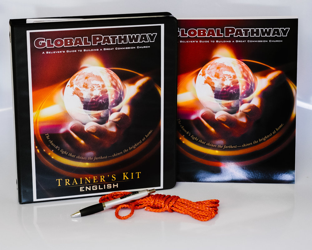The printed  Global Pathway Trainer's Kit  is contains props, tools, PowerPoint files, videos, and Trainer's Notes--all to empower the leader to conduct their own Global Pathway Conference or simply to allow the pastor to implement this transformational training in his or her own church. The Trainer's Kit is included in GPIN Membership, and includes Student Manual as well as (2) additional sessions by Dr. Jerry Williamson AND full-length videos of the entire course.