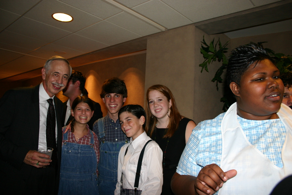 Wayne Flynt with cast members from the high school collaboration.