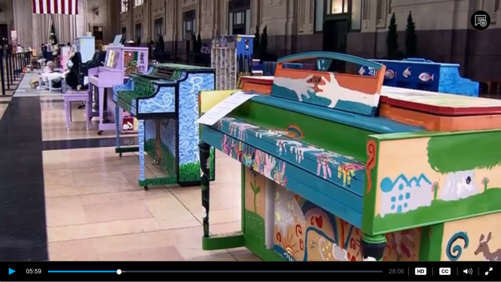 KTWU: See why pianos are painted at Union Station to celebrate the Kansas City Music Educator's 100 anniversary. (June '16)