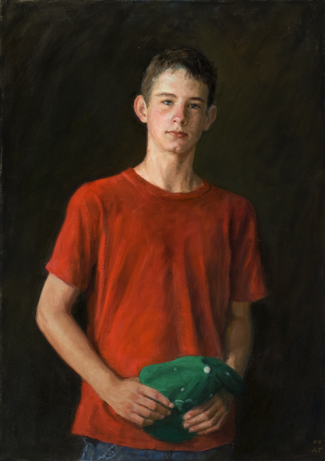 "Ryan  , oil on linen, 34"" x 24"""