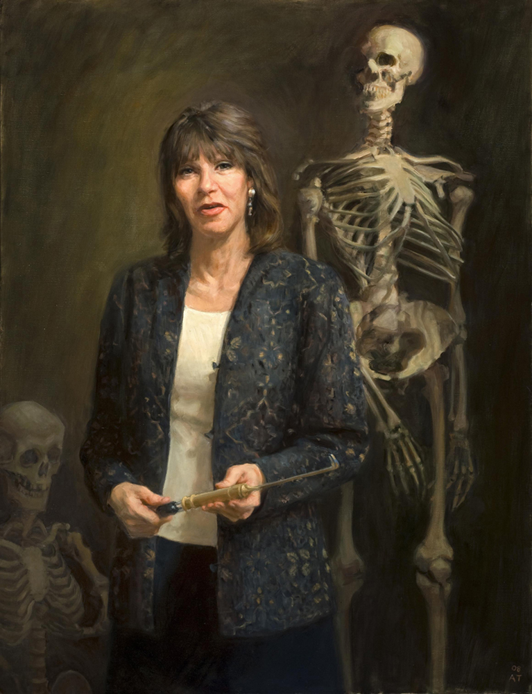 "Gretchen Worden  , oil on linen, 48"" x 36""  Collection Mutter Museum, Philadelphia College of Physicians"