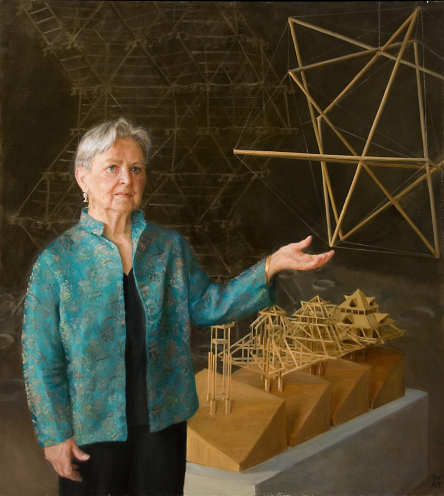 "Anne Griswold Tyng   , oil on linen, 42"" x 38""    Collection Architectural Archives of the University of Pennsylvania"