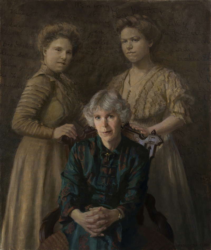 "The Grandmothers   , oil on linen, 40"" x 34"""