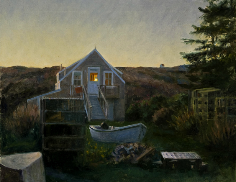 "Home and House ,   oil on linen, 22"" x 28"""