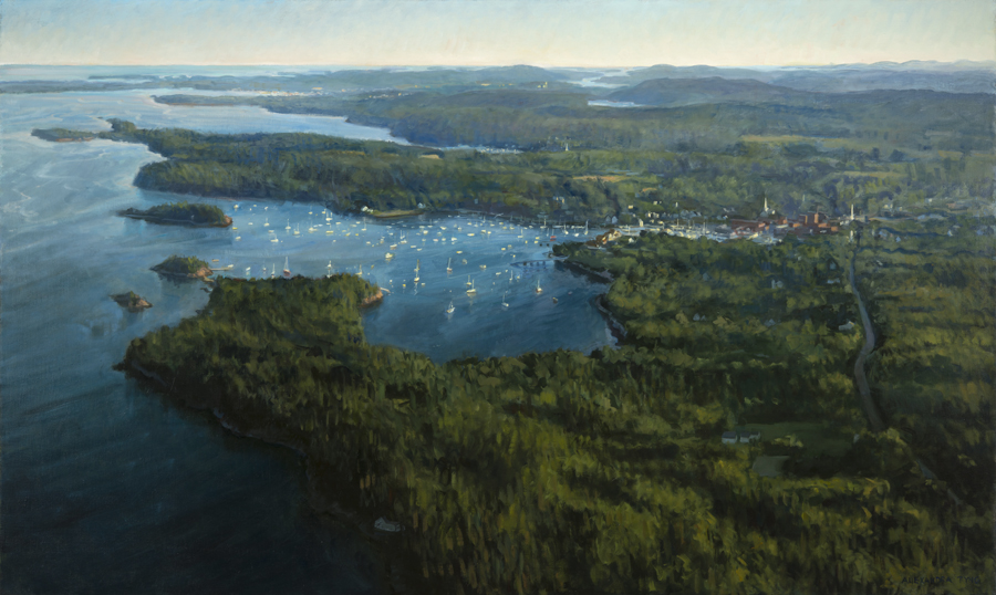 "Three Harbors   , oil on linen, 36"" x 60"""