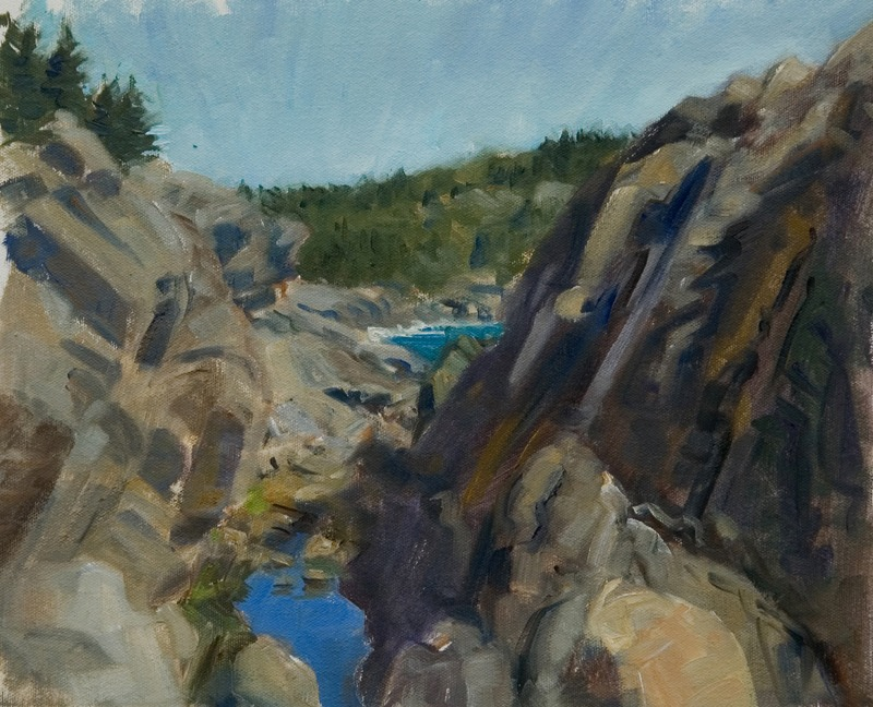 "Gull Rock Gorge   , oil on canvas, 11"" x 14"""
