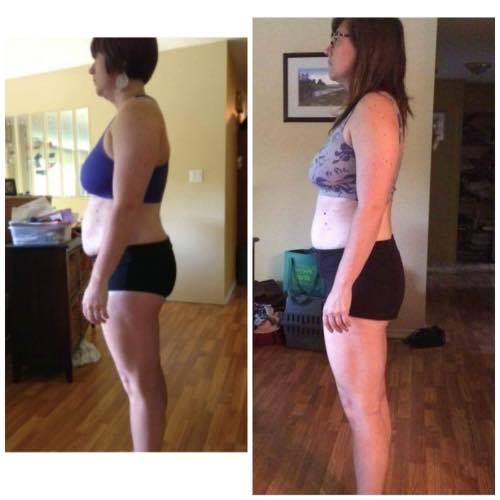 "Grace experienced an amazing transformation in  Align and Thrive . Check out her before/after photo.  ""This 10 week course opened up the realization that it's possible to put life changing habits into place. I had really lost hope in some ares of my life. I thought I wasn't able to stick with things long enough and that it was just ""who I was"". I was stuck in these old stories of ""I am not a morning person"", ""I am unorganized"" - although I desperately wanted to be an ""organized morning person"". Learning about my composition (Dosha) suddenly made my whole life make sense, the highs and lows I experience and the general state of discomfort. Dana laid it all out in small bite-sized steps, each leading in to one another in a very non-threatening kind of way. For the first time in my life, I didn't feel overwhelmed with all I wanted to be, do and change. The golden nugget for me was that change happens one step little step at a time. Re-vamping habits and replacing old habits is totally possible. Knowing this has opened up my entire life from the seat of ""possible"". Infinite gratitude. "" And a year later:  ""It's been one year since I took Align and Thrive from Dana and I am down 40 lbs! SUCH RELIEF! I had no idea I could feel this good. Tell everyone you know - I had given up hope, and now I feel like I can do the damn thing - this life, this purpose. You gave me my life back Dana, I can never ever thank you enough. Keep doing this work - you are changing lives. My children will thank you someday..."""