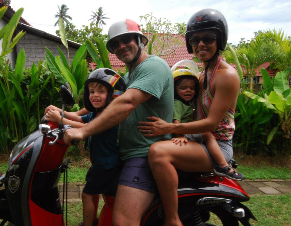 Our last family trip to Bali - just like the locals do it