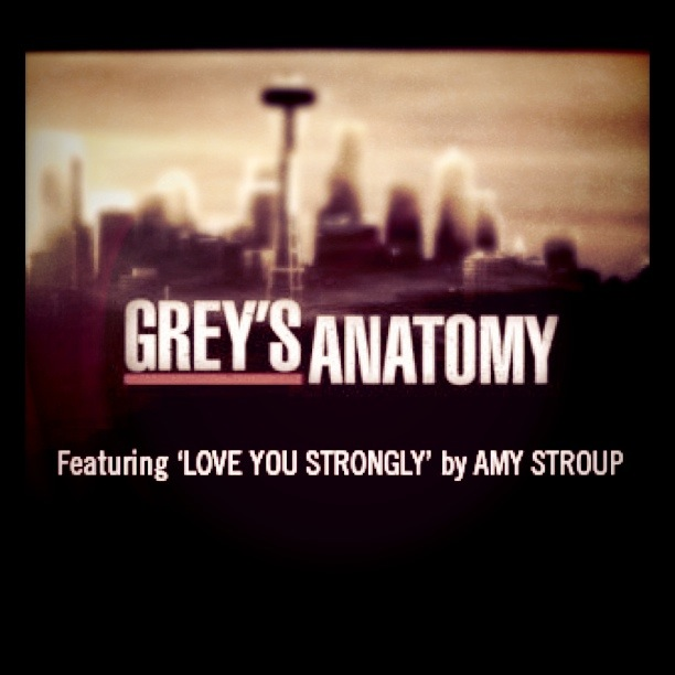 Love You Strongly On Greys Anatomy Amazon For Free Amy Stroup