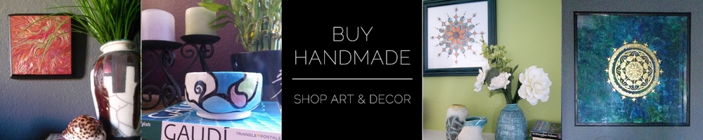 handmade art & home decor to buy - dreamcatchers, pottery, wall art, mandalas, & macrame plant hangers