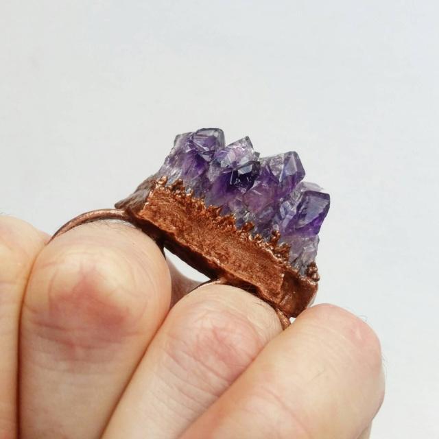 Amethyst ring - Desert Daisy Jewelry