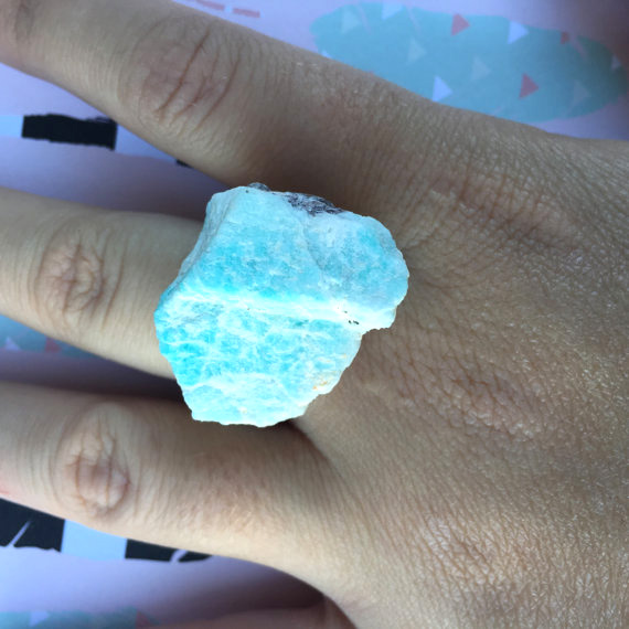 handmade jewelry - large ring - Caitlin's Crystals