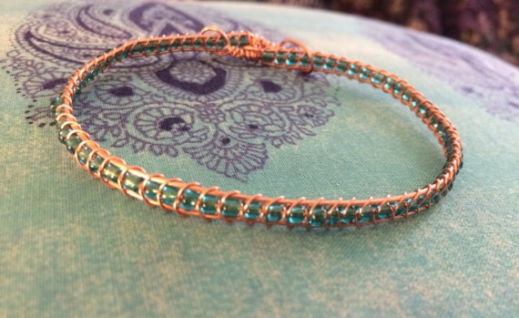 Braided Copper Seed Bead Bracelet - Knight Rowen Designs
