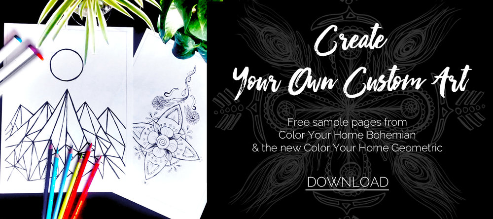 Free coloring pages download from Effortlessly Eclectic Color Your Home books to create your own custom artwork