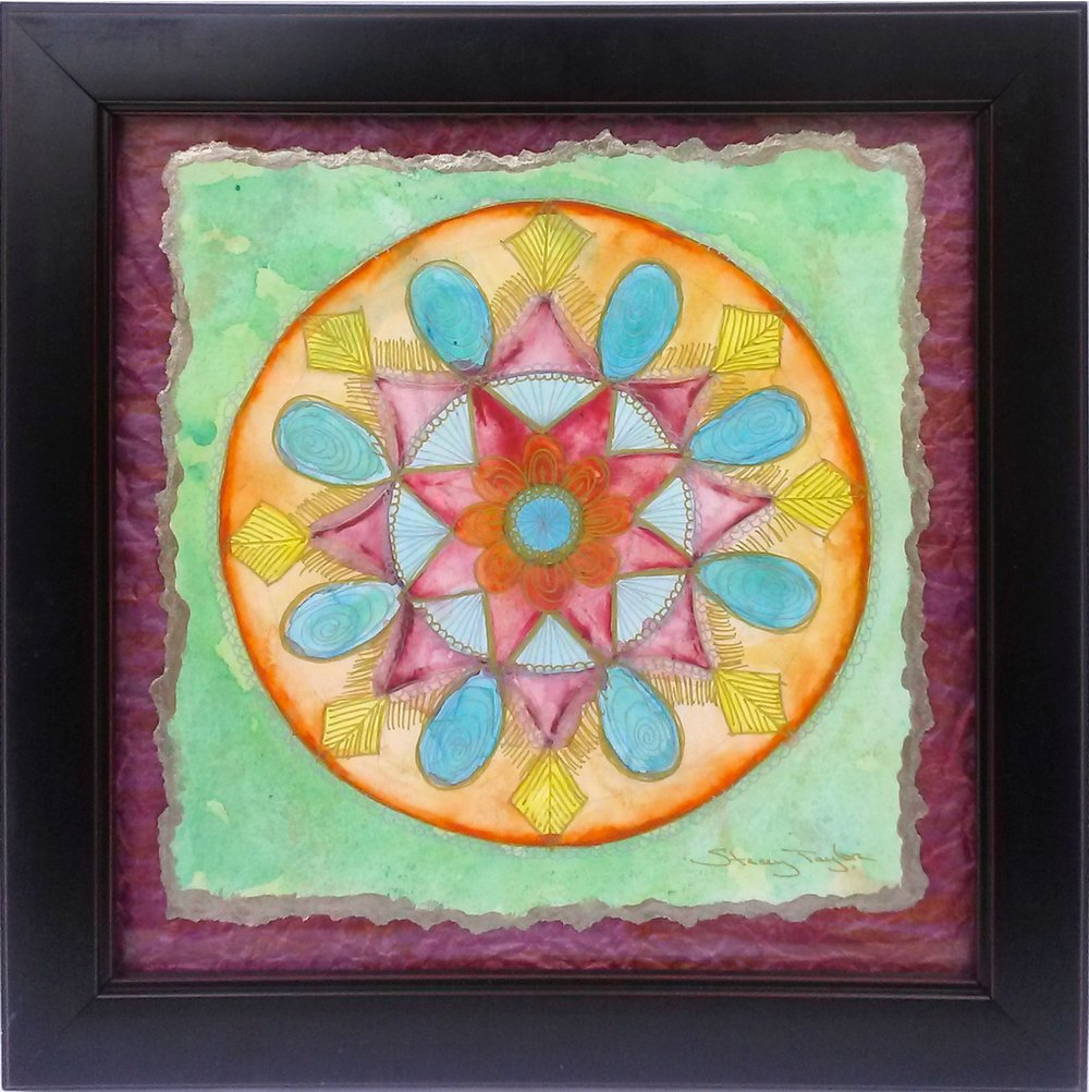 Mandalas by Stacey Taylor of Effortlessly Eclectic - handmade mixed media  mandalas