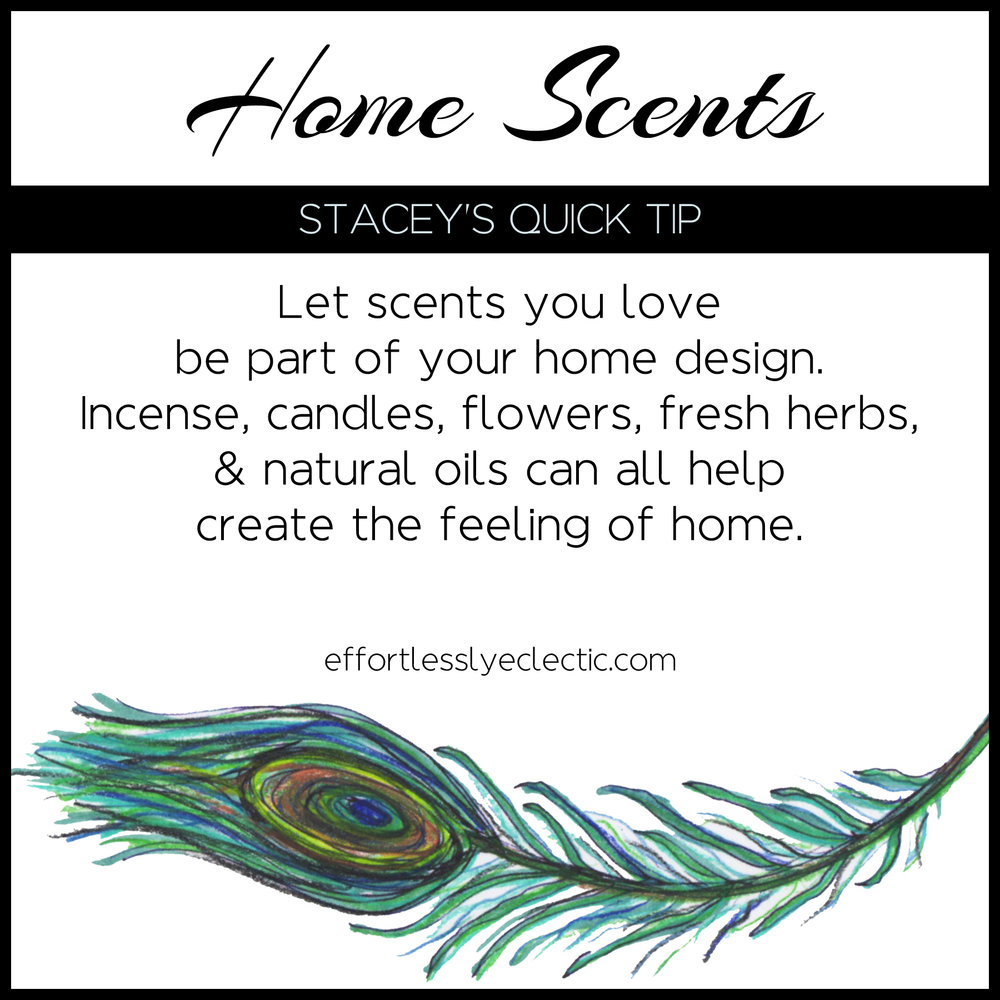 Home Scents - A home decorating tip about how to use scents in your home