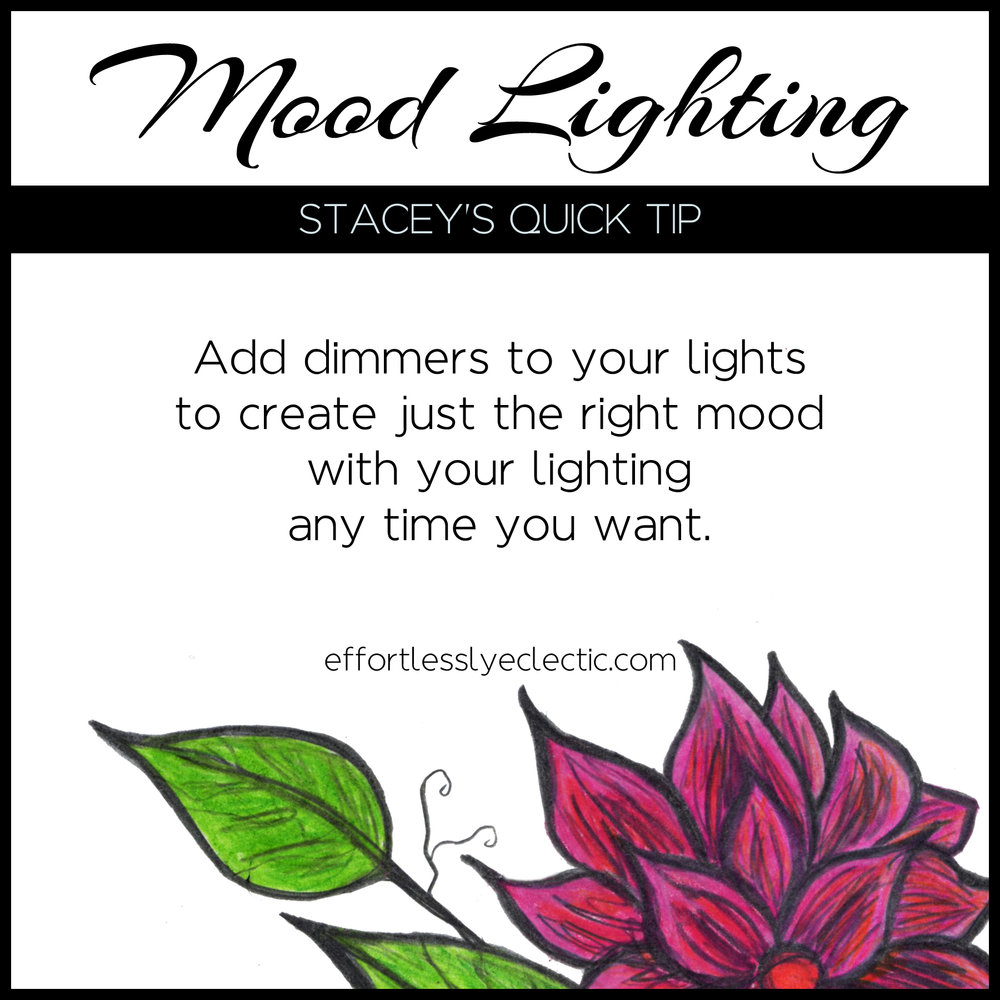Mood Lighting - A home decor tip about how to create mood lighting