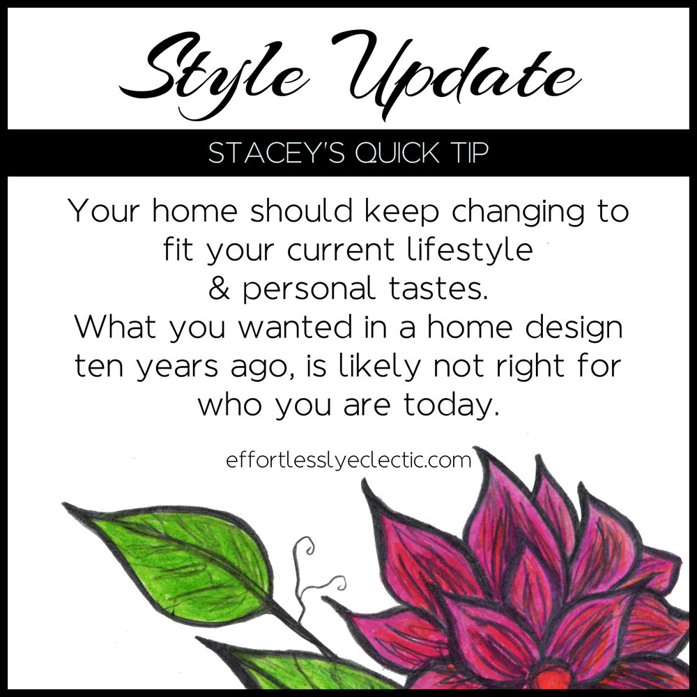 Style Update - A home decor tip about updating the style in your home