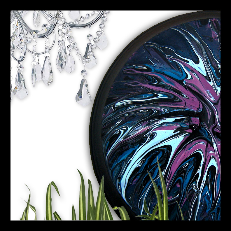 Galaxy original art fluid painting by Stacey Taylor of Effortlessly Eclectic