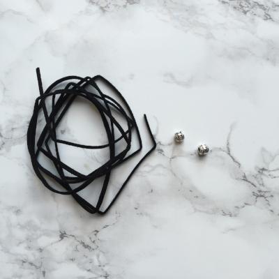 DIY Black Tie Choker