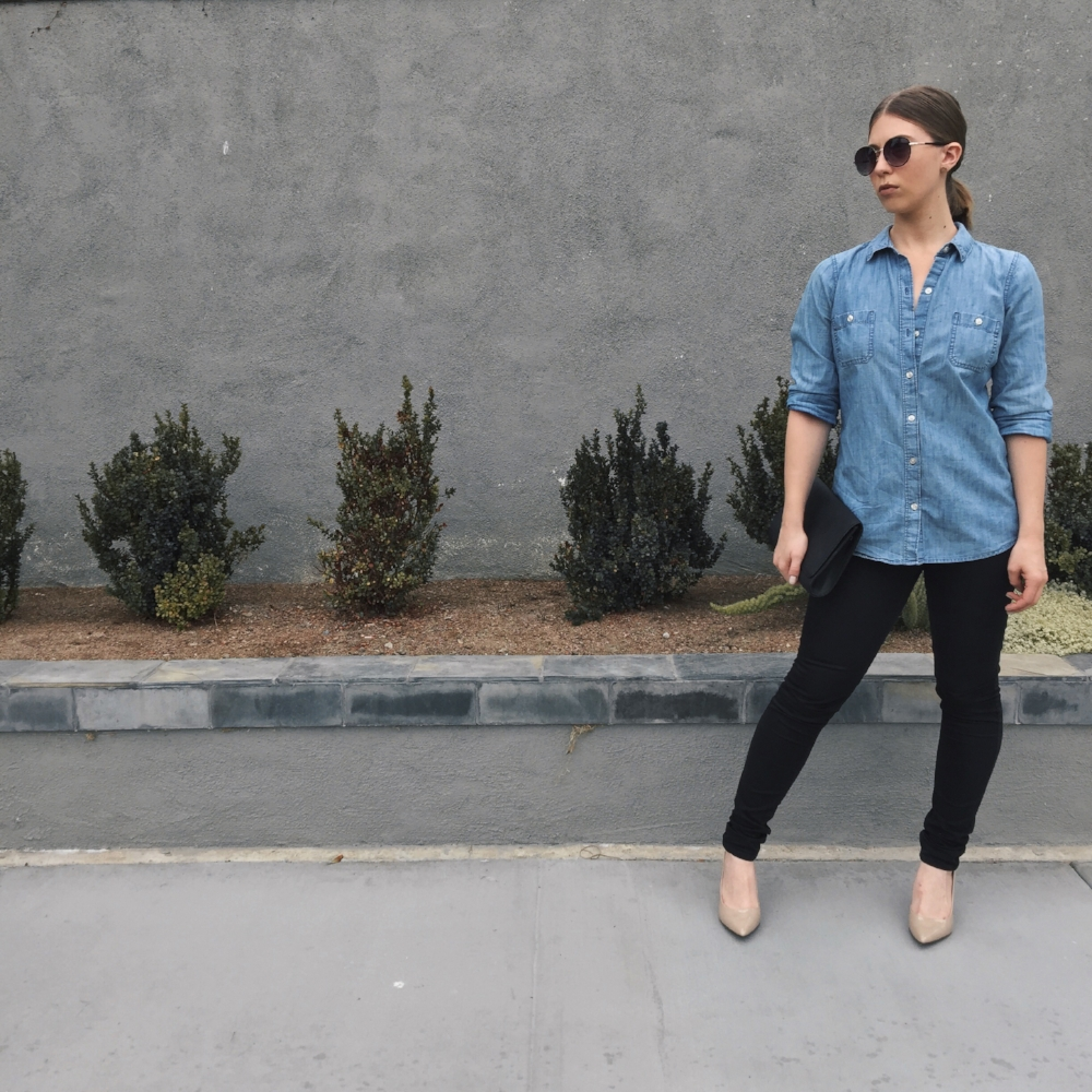 Denim Shirt OOTD
