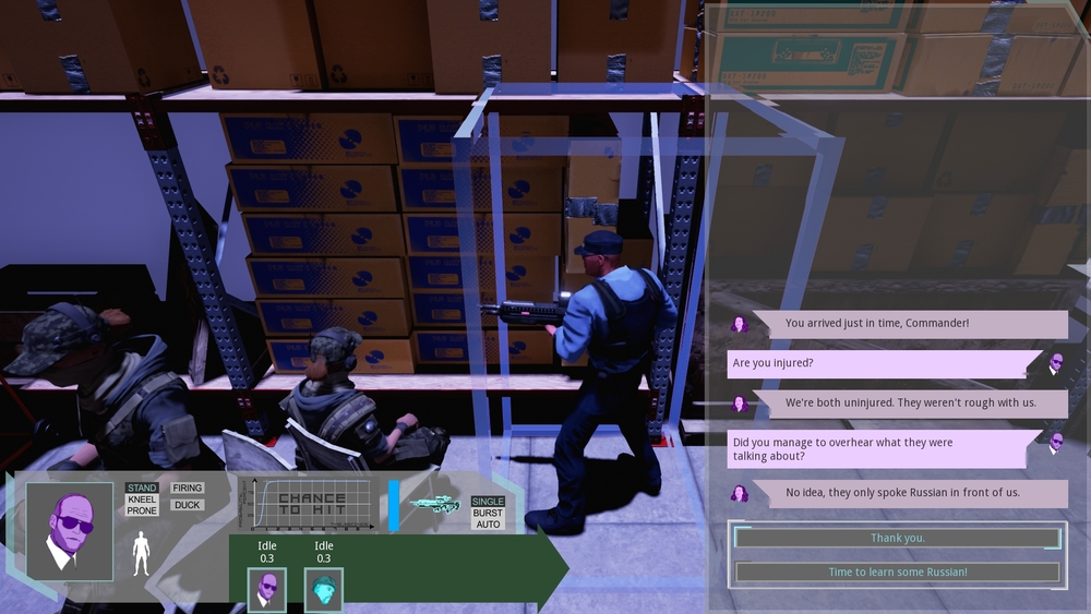 Screen capture from a demo level