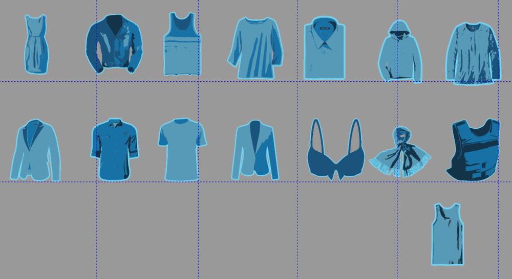 New inventory icons in the graphic design program