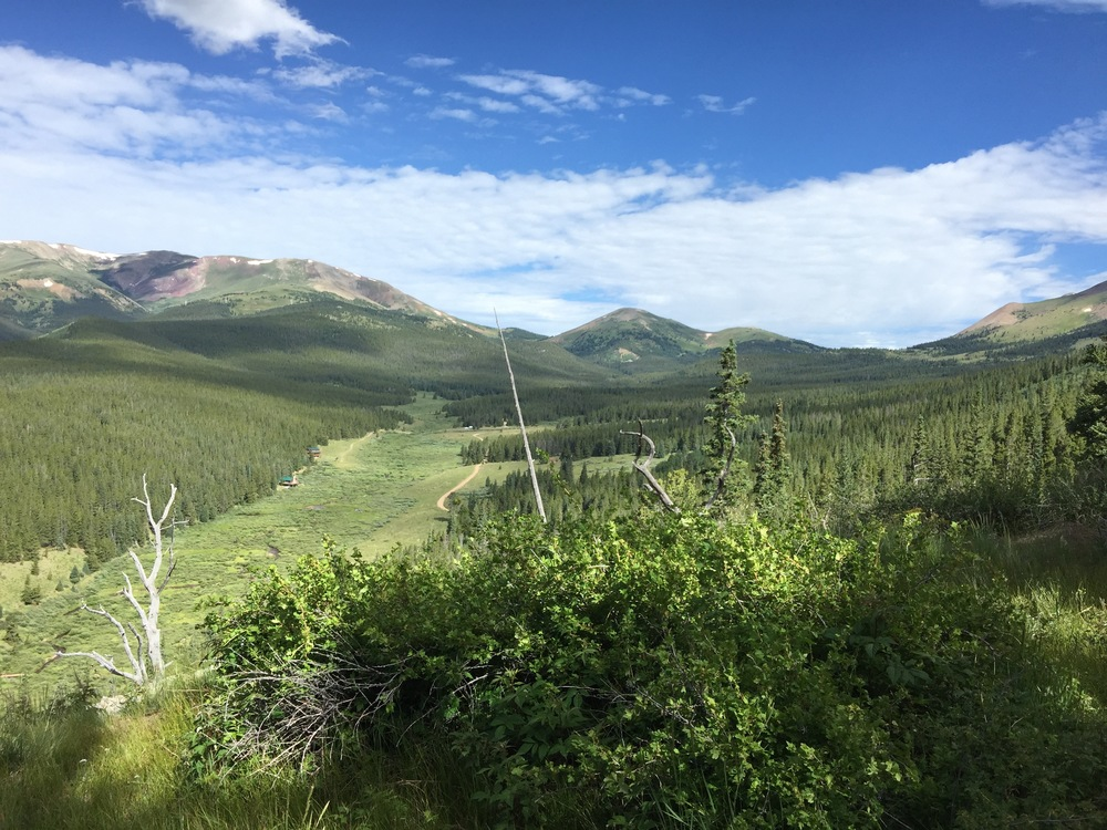 Looking west from Rocky Point - Boreas Pass