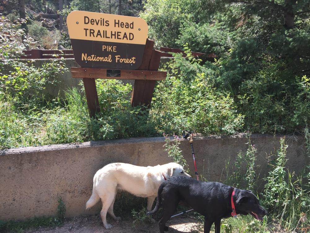 At the trail head - Devil's Head