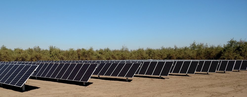 Sunfolding T29 trackers at Moss Ranch, one of the twelve project sites